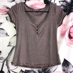 Urban Outfitters Burgundy Stripe Top